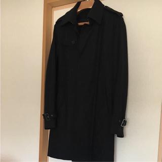 極美品 訳あり ステンカラー トレンチ コート 黒 ジュンメン S