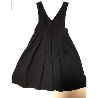 レトロガール 紺色 サロペットスカート Mサイズ(サロペット/オーバーオール)