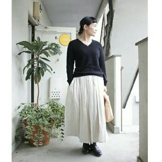 ソイル(SOIL)の8日(木)までセール! SOIL wool/linenロングギャザースカート(ロングスカート)
