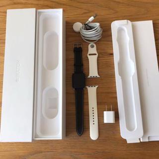 アップルウォッチ(Apple Watch)のApple Watch series2  新品皮バンド 42mm + おまけ(腕時計(デジタル))