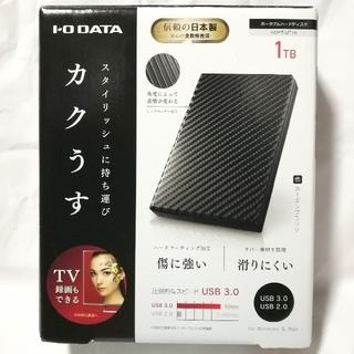 アイオーデータ(IODATA)の新品同様 ほぼ未使用 HDPT-UT1K 1TB ポータブルハードディスク(PC周辺機器)
