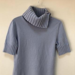 アンタイトル(UNTITLED)のuntitled  オトナな  ブルーグレー  タートル  セーター(ニット/セーター)