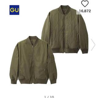 ジーユー(GU)のGU リバーシブルMA-1ブルゾン カーキ(ブルゾン)