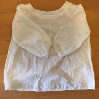 MUJI (無印良品) - 無印 オーガニックコットン楊柳七分袖ブラウス 白