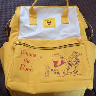 ディズニー(Disney)のくまのプーさん がま口リュック バッグ イエロー 黄色(リュック/バックパック)