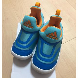 アディダス(adidas)の【美品】adidas 14cm アディダス スリッポン  スニーカー 青 ブルー(スニーカー)