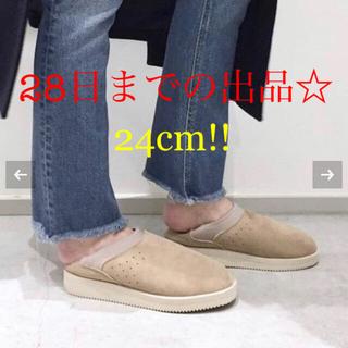 アパルトモンドゥーズィエムクラス(L'Appartement DEUXIEME CLASSE)の新品☆SUICOKE Mouton Sabo☆(スリッポン/モカシン)