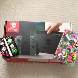 ニンテンドースイッチ(Nintendo Switch)の任天堂 Switch♡スイッチ本体 スプラトゥーン2 ジョイコンカバーセット(家庭用ゲーム本体)