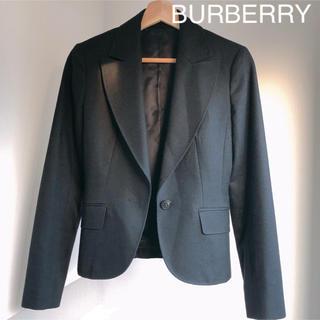 バーバリー(BURBERRY)の【美品】BURBERRY テーラードジャケット 38 ブラック スーツ(テーラードジャケット)