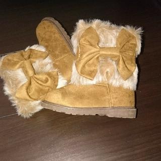 ファーブーツ 靴13㎝(ブーツ)