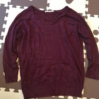 ジュエリウム(JEWELIUM)のセーター ワインレッド色 jewelium(ニット/セーター)