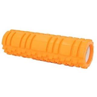 ★即日発送★ 2種類の凹凸 フォームローラー やわらかめ オレンジ 他カラー有(トレーニング用品)