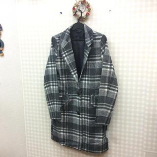 【新品】チェックチェスターコート(チェスターコート)
