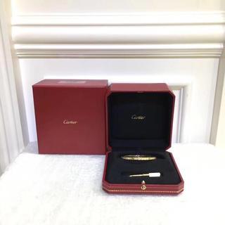 カルティエ(Cartier)の新品同様❣️8月に購入正規カルティエブレスレットイエローゴールドダイヤモンド16(ブレスレット/バングル)
