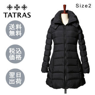 タトラス(TATRAS)のタトラス LTA19A4694 POLITEAMA ダウンコート ☆BLACK(ダウンコート)