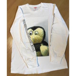 シュプリーム(Supreme)のSUPREME ロンT  M  白 美品(Tシャツ/カットソー(七分/長袖))