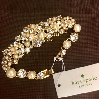 kate spade new york - ケイトスペード ブレスレット パール ダイヤモンド ゴールド ゴージャス 誕生日