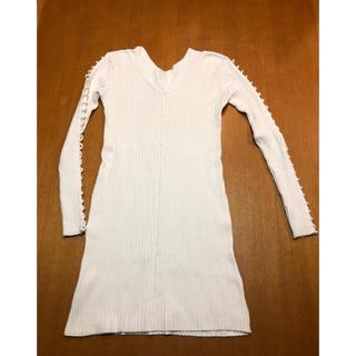 ザラ(ZARA)のS-M サイズ レディース ニット ドレス ワンピース チュニック(ミニワンピース)