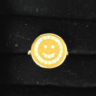 アッシュペーフランス(H.P.FRANCE)のH.PFRANCE キャロリーナブッチ18kスマイルダイヤモンドリング(リング(指輪))