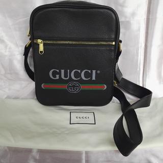 Gucci - グッチ GUCCI ブラック ショルダーバッグ メンズ