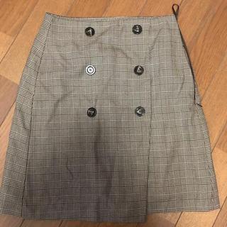 GU - チェック スカート