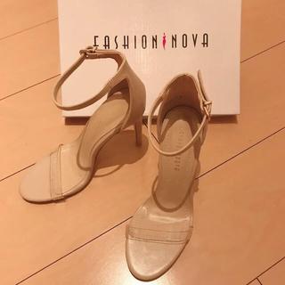 ZARA - fashion nova ♡ クリアストラップ ベージュヒール