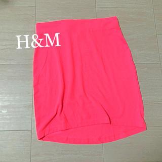 エイチアンドエム(H&M)のH&M ネオン タイトスカート 新品 XS(ミニスカート)