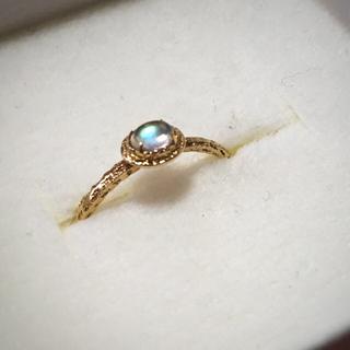 アガット(agete)の値下げ!time jewellery レインボウ ムーンストーン(リング(指輪))