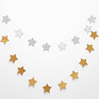 星 ガーランド 約3m (表ゴールド&裏シルバー)(その他)