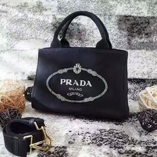 PRADA - プラダカナパトートバッグ キャンバス デニムバッグ レディース
