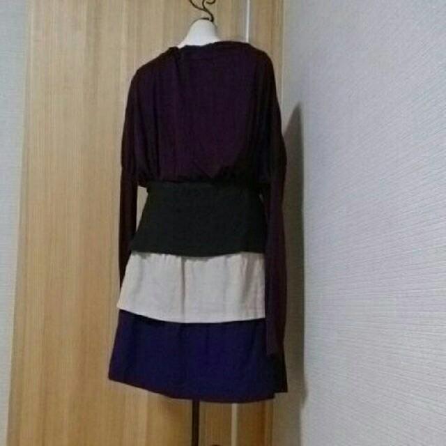 ウール100% 美品 ティアードスカート レディースのスカート(ひざ丈スカート)の商品写真