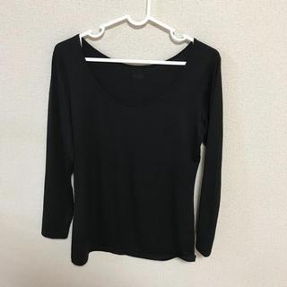 ユニクロ(UNIQLO)のユニクロ ヒートテック ブラック 3枚(アンダーシャツ/防寒インナー)
