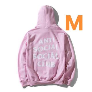 アンチ(ANTI)のAnti social social club Pink Hoodie M(パーカー)
