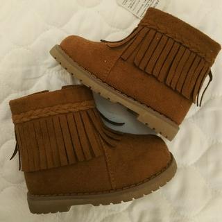 ニシマツヤ(西松屋)の【新品】茶色ブーツ 14センチ(ブーツ)