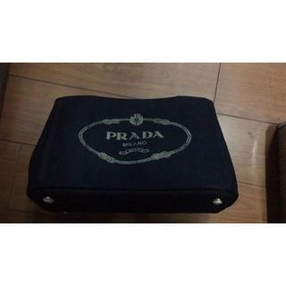 PRADA - PRADAプラダ カナパ トートバッグ デニム 黒