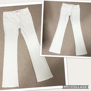ザラ(ZARA)の綺麗め 白いスーツパンツ(カジュアルパンツ)