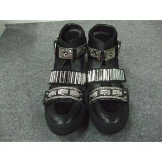 トーガ(TOGA)のTOGA VIRILIS新品Bangle sneaker Black/44(スニーカー)