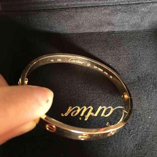 Cartier - 100%正規名 超美品 カルティエ 750PG ラブプレスレット