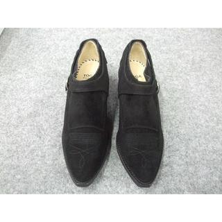 トーガ(TOGA)のTOGAトーガ新品Suede cowboy shoes Black/38(スリッポン/モカシン)