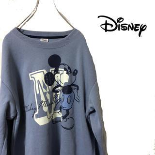 ディズニー(Disney)のDisney ディズニー ミッキー スウェット 紺 タグ付き 新品 mickey(スウェット)