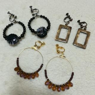 Ane Mone - ☆お値打ち☆百貨店購入 エースタイル イヤリング 3つセット フープ 大ぶり 貝