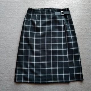 ★チェック巻きスカート★(ひざ丈スカート)