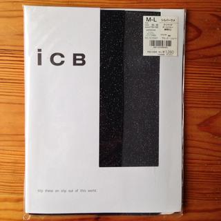 アイシービー(ICB)の新品 ICB ストッキング ブラック シルバー ラメ(タイツ/ストッキング)