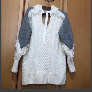 サカイ(sacai)のsacai サカイ ウール ケーブル ニット セーター(ニット/セーター)