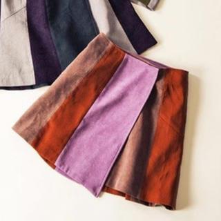 レディアゼル(REDYAZEL)のREDYAZEL ミニスウェードヴィンテージ巻きスカート(ミニスカート)