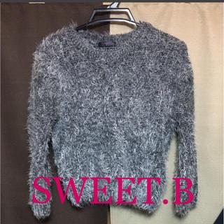 スウィートビー(SWEET.B)のシャギーニット♡黒(ニット/セーター)