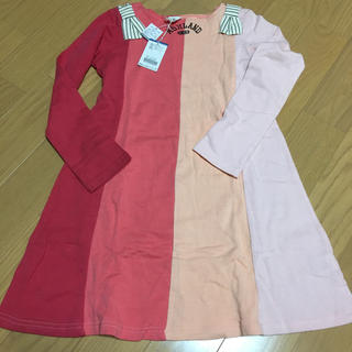 ブリーズ(BREEZE)の新品☆BREEZE☆140cmワンピース☆ピンク長袖(ワンピース)