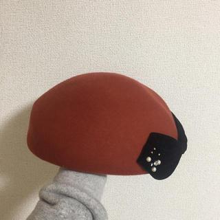 カシラ(CA4LA)のベレー帽 ダークオレンジ(ハンチング/ベレー帽)