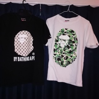 アベイシングエイプ(A BATHING APE)のape Tシャツ2枚セット(Tシャツ/カットソー(半袖/袖なし))