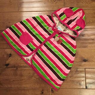 チッカチッカブーンブーン(CHICKA CHICKA BOOM BOOM)の♡美品♡チッカチッカブーンブーン フリース&綿素材 フード付きポンチョ (ジャケット/コート)